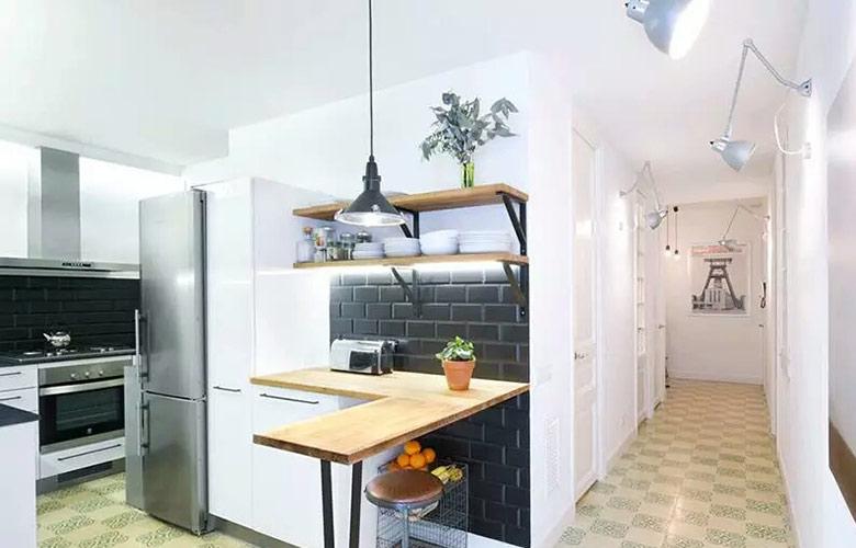 75平小户型二居吧台装修图