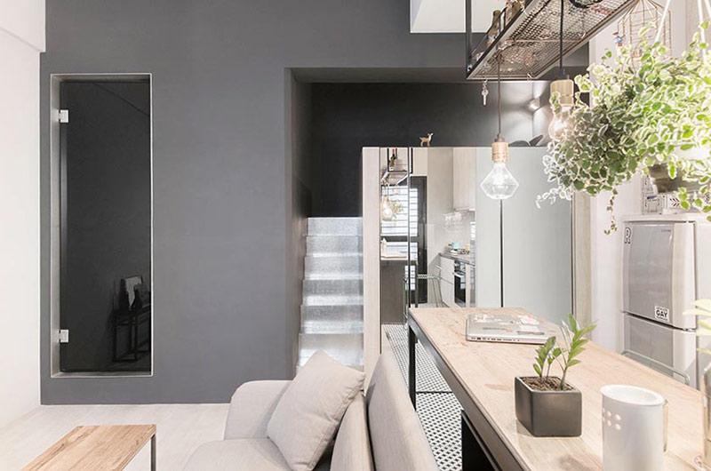 30平单身公寓装修室内植物摆放图