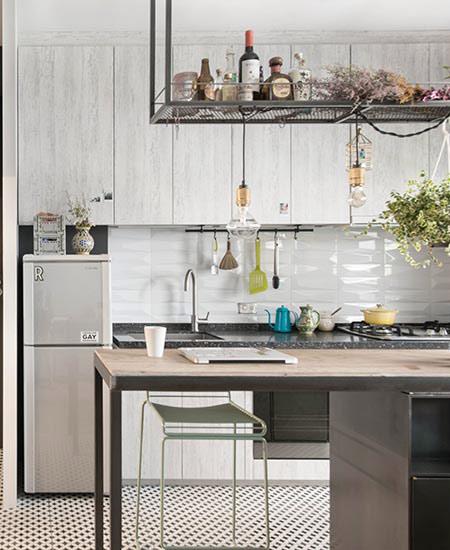 30平单身公寓装修开放式厨房设计