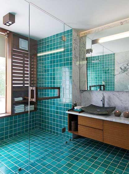 绿色系卫生间平面图片