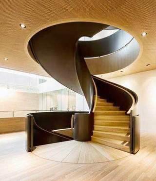 木质旋转楼梯设计平面图