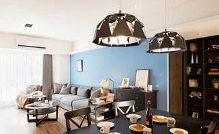80㎡现代美式两居室客厅图片