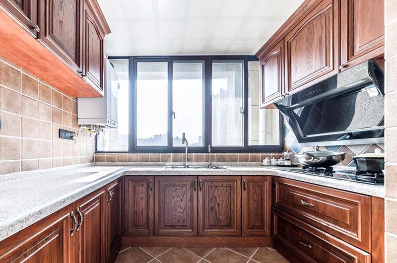 96平复式楼装修美式厨房装修