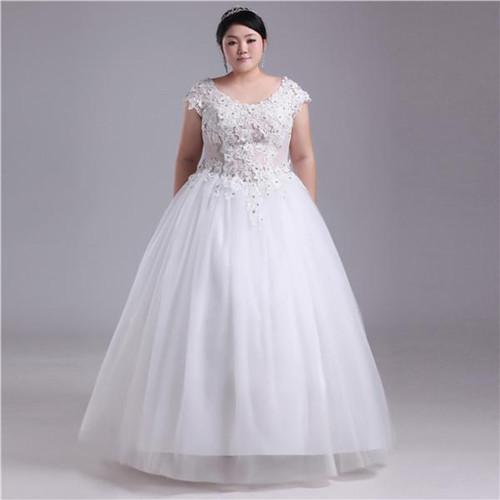 有哪些款式二:一字领婚纱图片