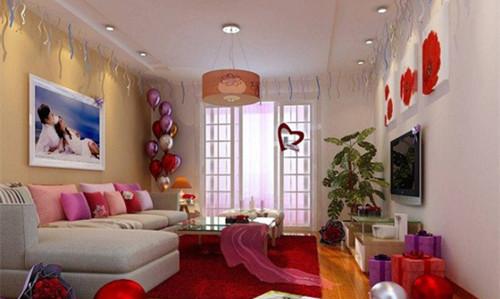 婚房布置效果图气球拉彩花 怎样布置婚房好看图片