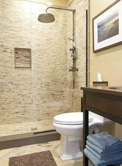 现代风格小户型卫生间参考图