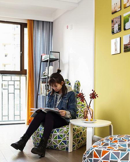 105平简约风格三居懒人沙发设计