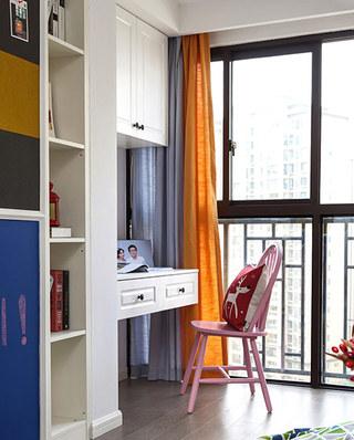 105平简约风格三居阳台书房设计