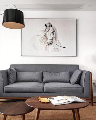 150平简约风格装修布艺沙发图片