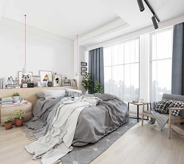 北欧风二居室卧室欣赏图