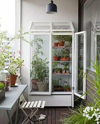 小阳台设计绿植收纳效果图