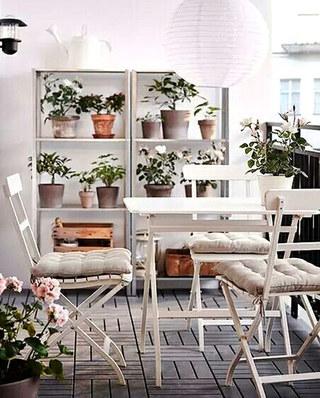 阳台装修植物收纳架图片