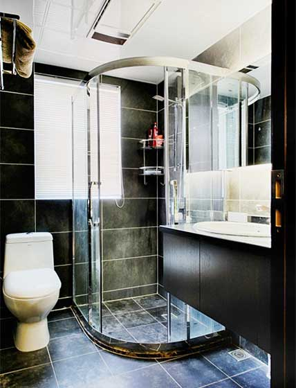 卫生间干湿分离布置欣赏图