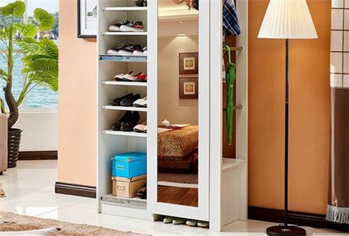 带穿衣镜的鞋柜的摆放注意&nbsp;<wbr>怎样的带穿衣镜鞋柜美观实用