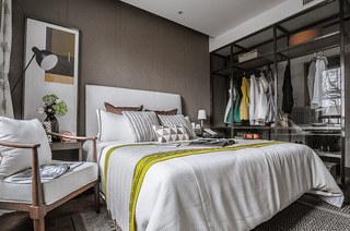 120平简约风格样板房卧室衣柜设计图
