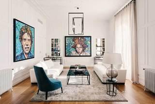 150㎡简约风格三居室客厅图片