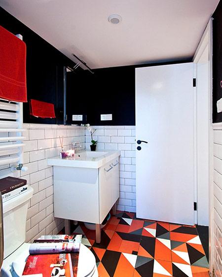 82平混搭风格二居地板瓷砖装修图