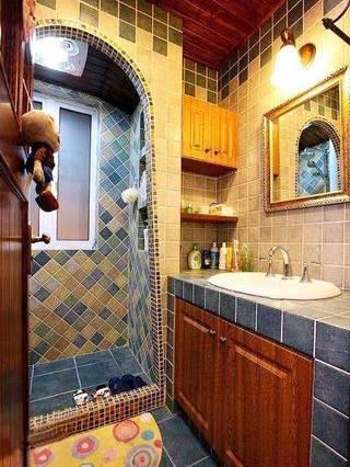卫生间砖砌洗手池图片大全