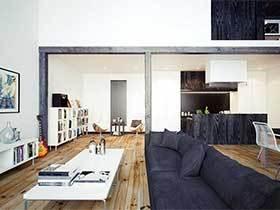 80㎡简欧风复式公寓设计图  那些静态的美