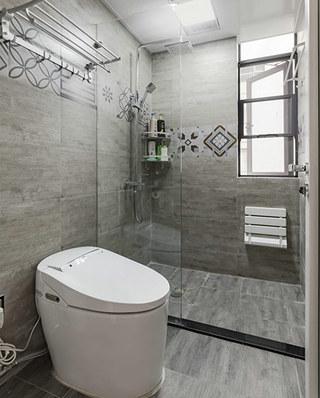 简约风格公寓装修干湿分离卫生间