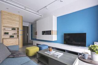 80平北欧风格二居电视背景墙设计