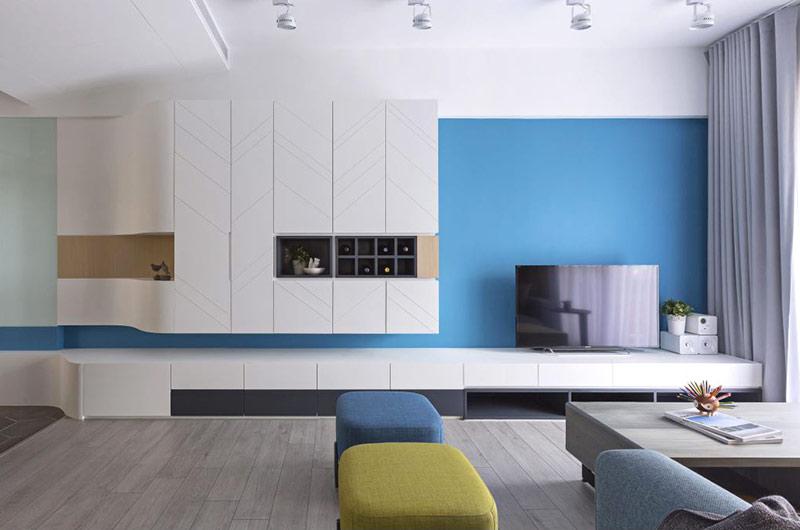 80平北欧风格二居电视柜图片