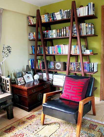 客厅墙面书架设计装修效果图