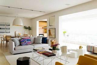 150㎡北欧风三居室客厅整体图片