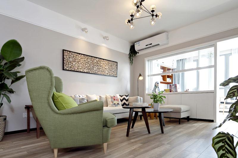 89平北欧风格二居客厅装修图