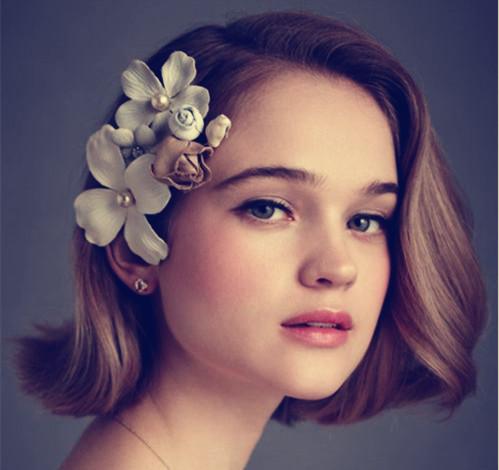 新娘短发发型一 时尚版的bob头,bob头在以前也流行过,在传统上在增加图片