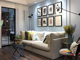 65平美式混搭风格小两室装修 遗失的美好