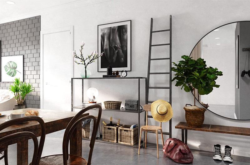 北欧风格一居室装修玄关装修图