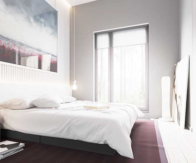 现代简约风两居室卧室飘窗参考图