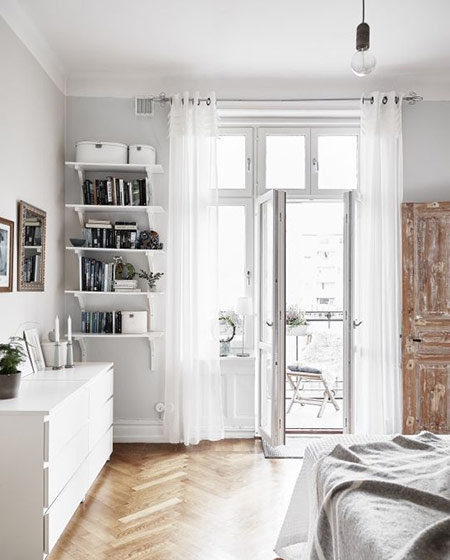 卧室白色窗帘效果图设计