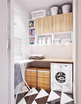 简约风洗衣房设计实景图