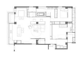 70平米单身公寓设计平面图