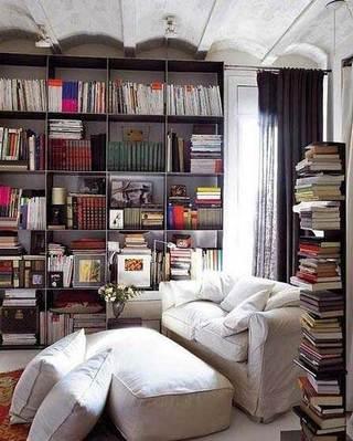 书架背景墙装修设计图片