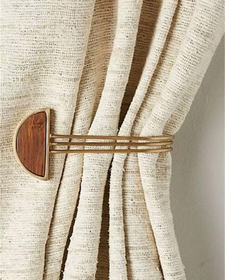 窗帘复古挂钩设计图片