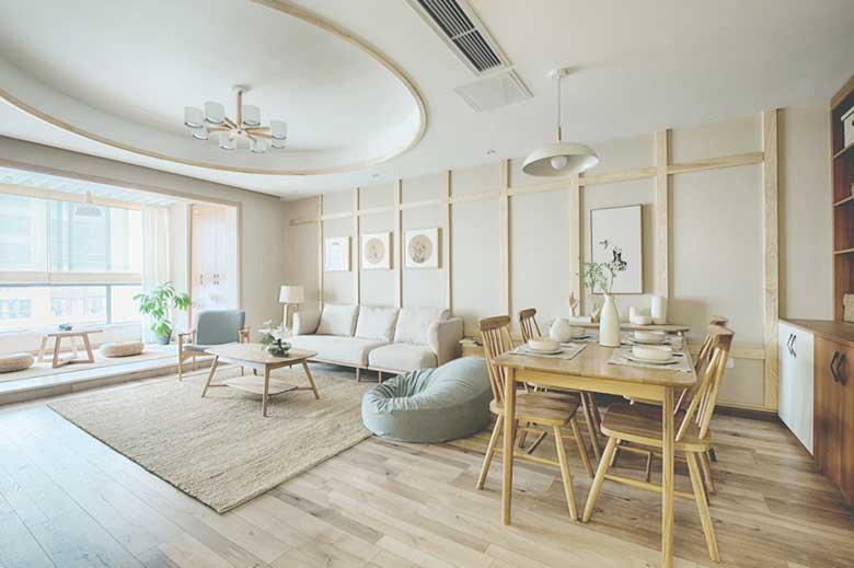80㎡日式两居室装修客厅图