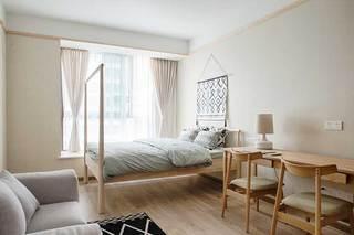 80㎡日式两居室装修飘窗构造图