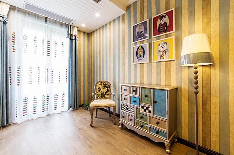130平地中海风格三居儿童房装修