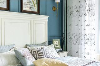 130平地中海风格三居卧室窗帘设计