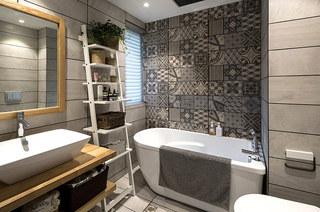 北欧风格三居室浴室瓷砖图片
