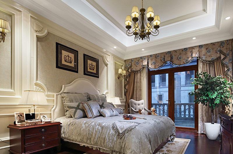 欧式古典风格样板房主卧室装修