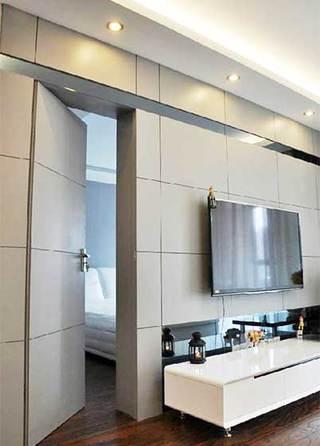 室内隐形门电视背景墙构造图