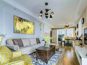 105平混搭美式风格三居室装修 最美的还是家