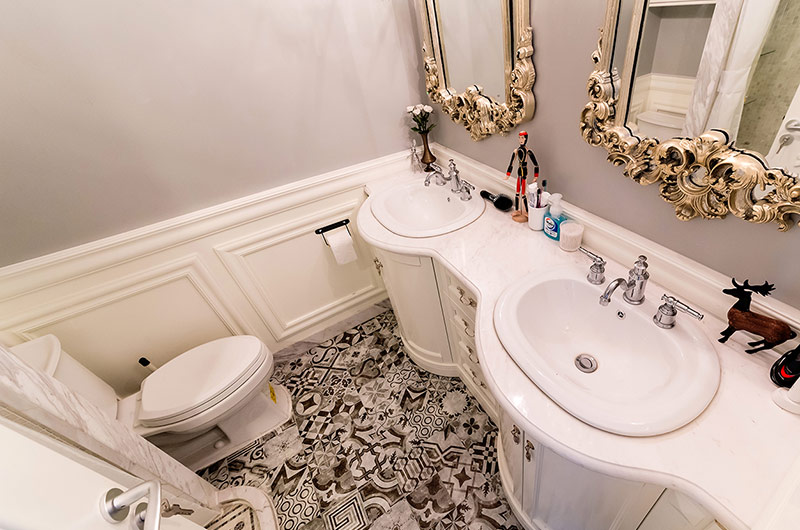 80平混搭风格二居卫生间设计