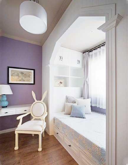 卧室飘窗装修构造图
