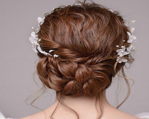 新娘化妆盘发图片欣赏 新娘盘发教程图片