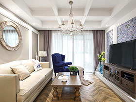 139平法式风格四房装修效果图 素秋复古色